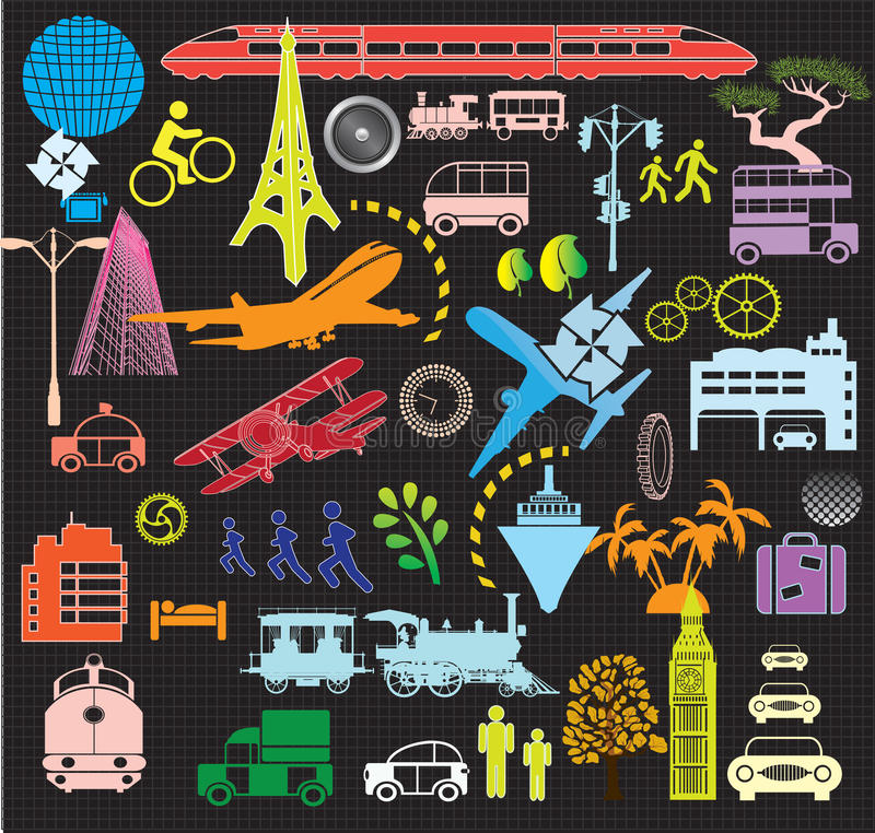 Mix travel vector illustration