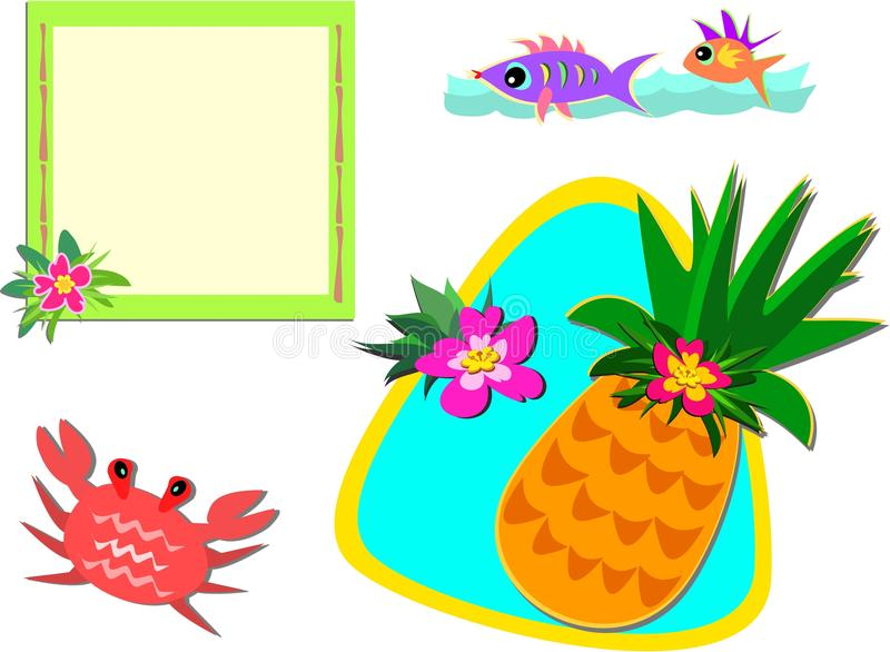 Mix Of Tropical Pictures Royalty Free Stock Photography