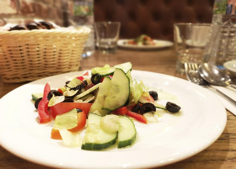 Mix vegetable salad for dinning background royalty free stock image