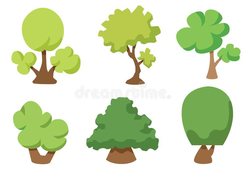 Tree vector icon isolated on white background, Tree logo concept royalty free illustration