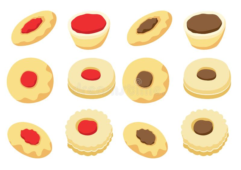 Cookies vector icon isolated on white background illustration vector stock illustration