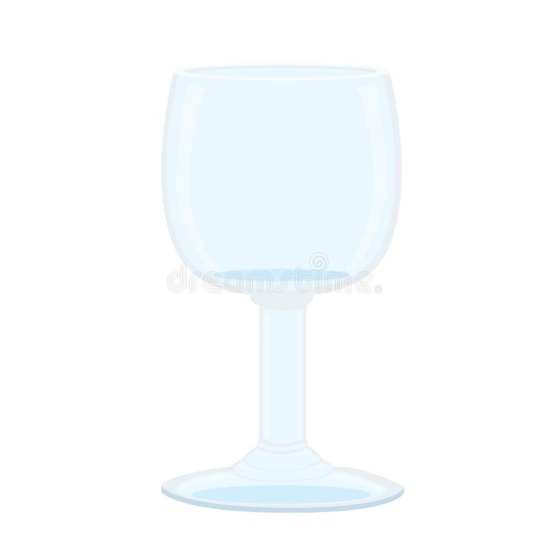 Glass of champagne on white background royalty free illustration