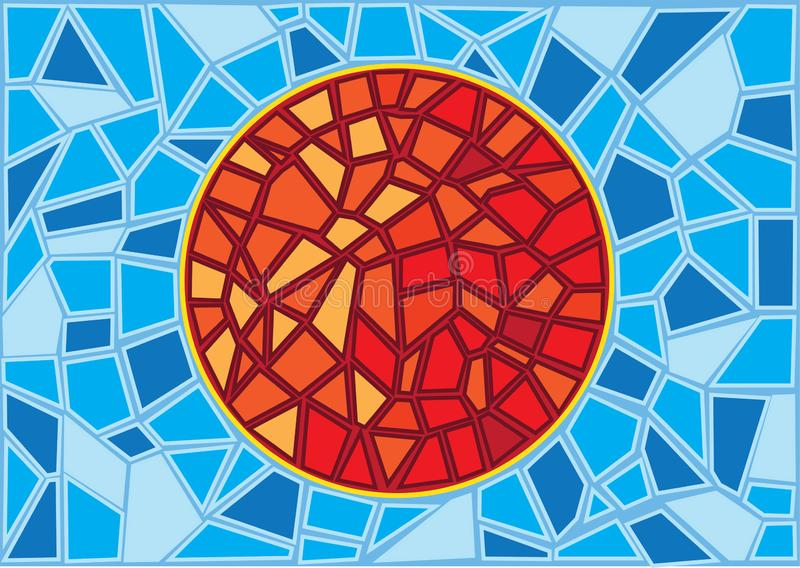 Sun Stained glass blur background royalty free illustration