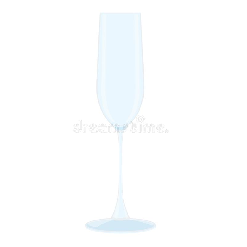 Glass of champagne Clear glass vector illustration