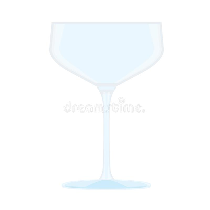 Glass of champagne and Clear glass stock illustration