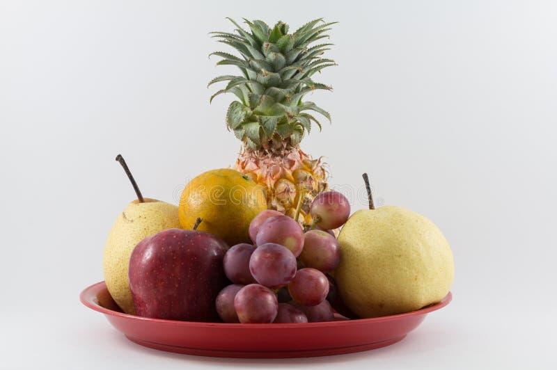 Mixe frukt i magasinet royaltyfria bilder