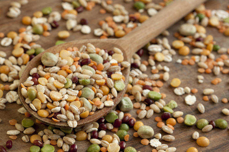 Mixed beans. stock images