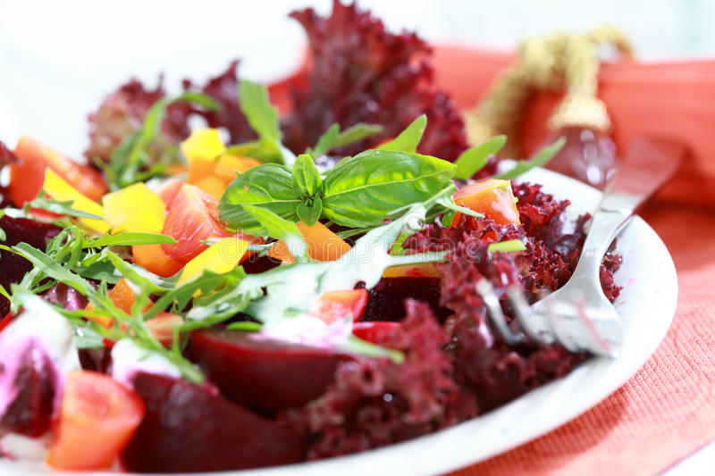 Download Mixed beetroot salad stock photo. Image of calorie, lettuce - 23228544