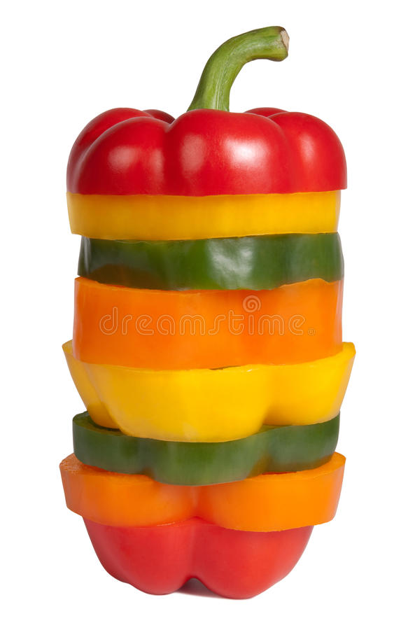 Mixed bell pepper stock photo
