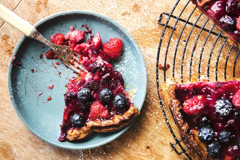 Mixed berry pie food photography recipe idea stock images