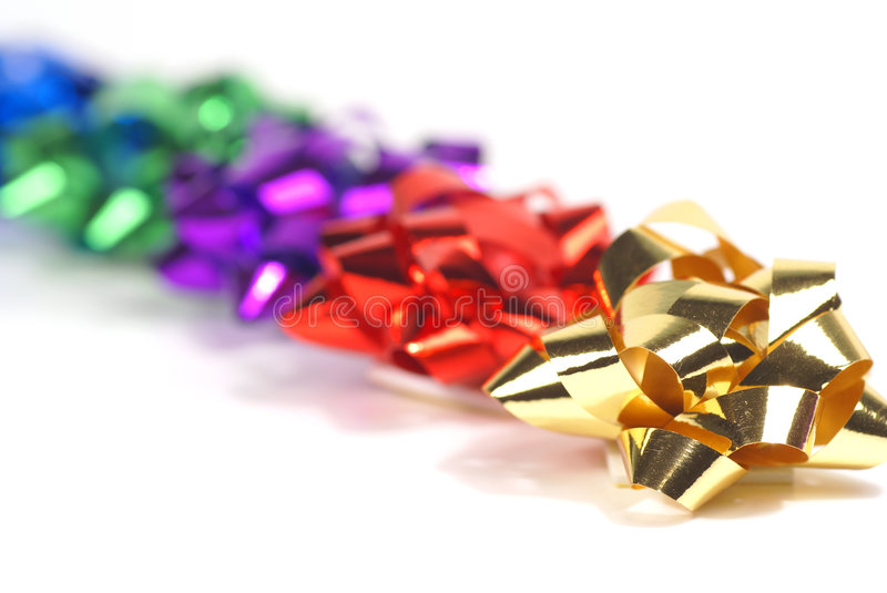 Mixed bows in a row royalty free stock photo