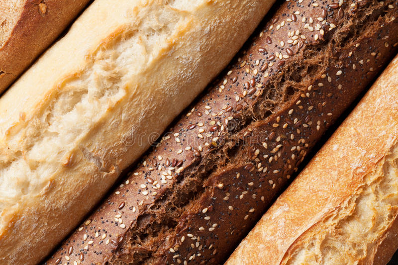 Mixed breads royalty free stock photography