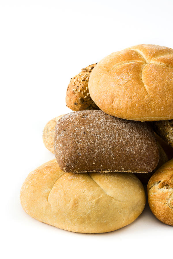 Mixed breads isolated stock photos