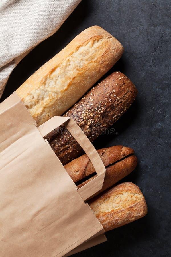 Mixed breads royalty free stock photo