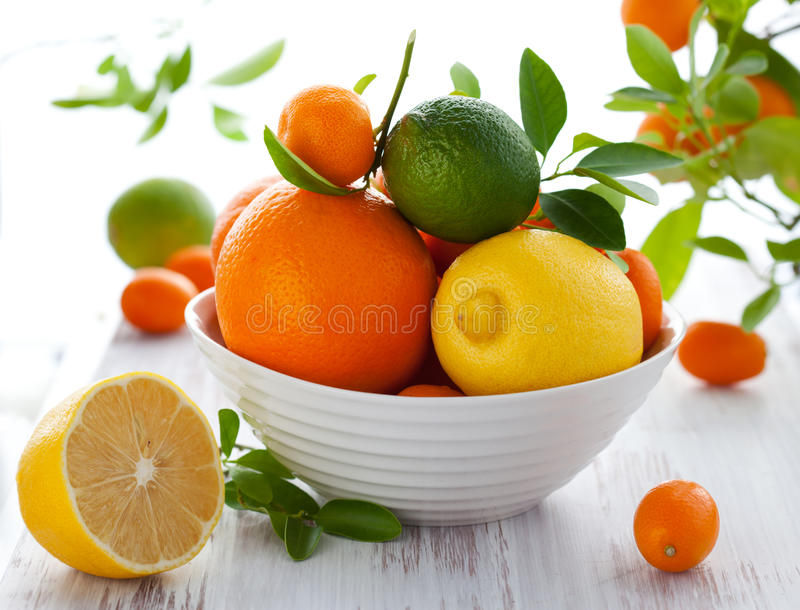 Mixed citrus fruit stock images