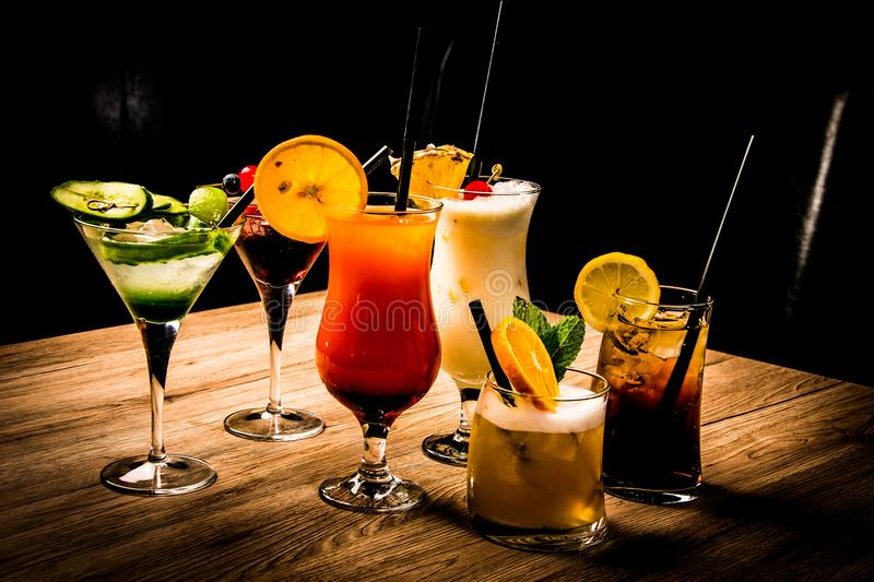 Coctails in the bar royalty free stock photography