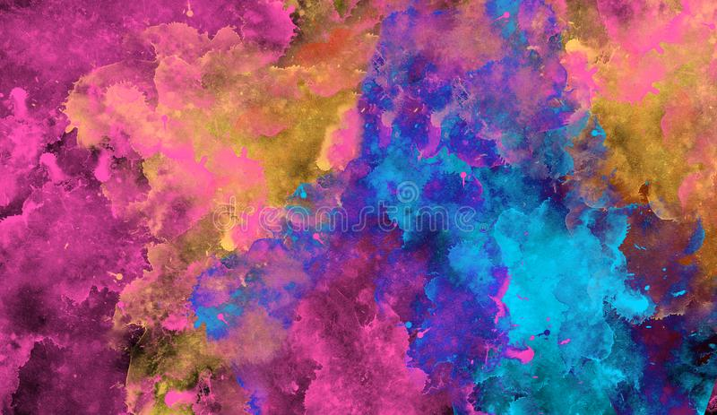 Mixed colorful abstract background. Watercolor concept art vector illustration