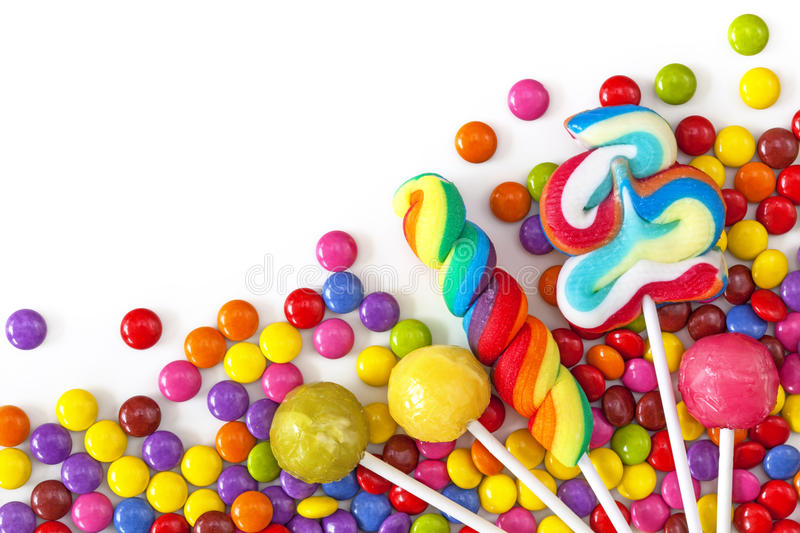 Mixed colorful sweets stock images