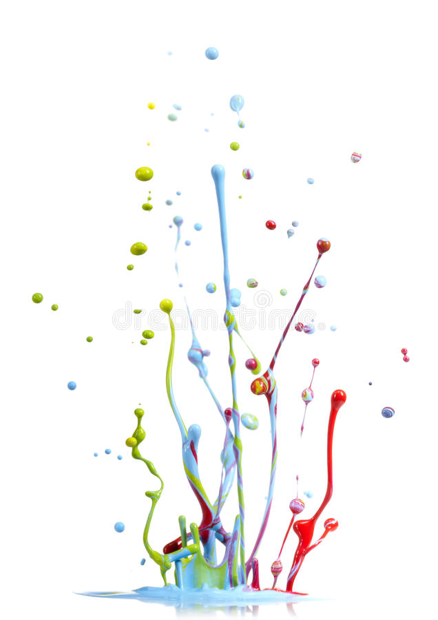 Download Mixed Colors Paint Splash Stock Photography - Image: 20961122
