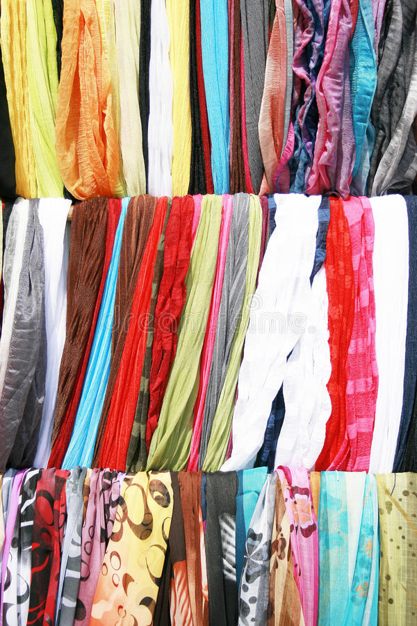 Mixed Colors Silk Stock Photos