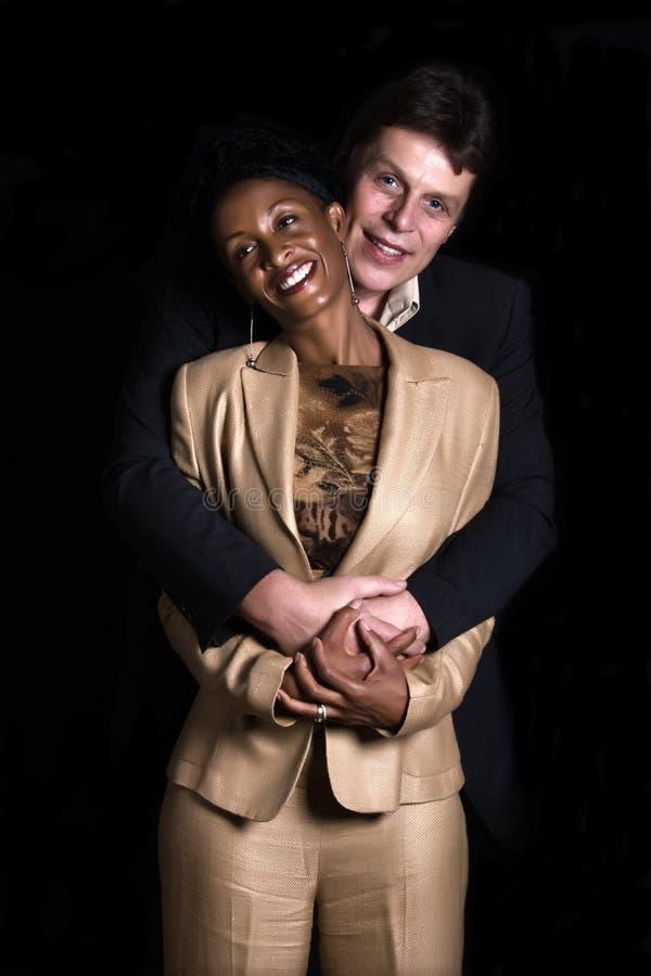 Mixed couple royalty free stock image