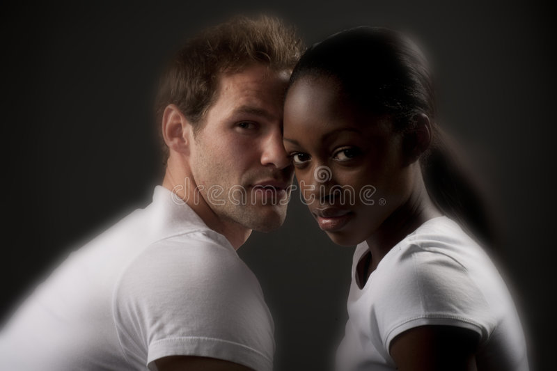 Mixed couple royalty free stock images