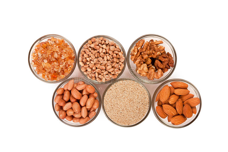 Mixed dry fruits in glas bowl royalty free stock photography