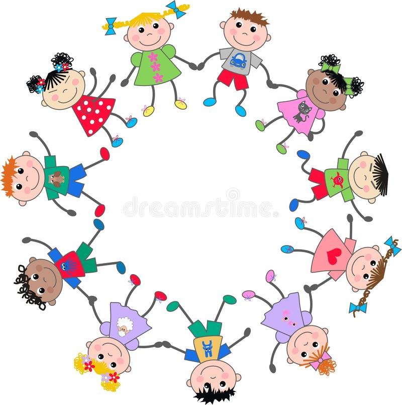 Download Mixed ethnic children stock photo. Image of european - 24505416