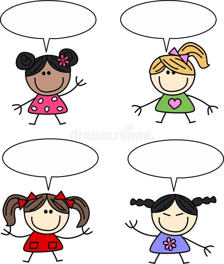 Mixed ethnic girls stock image