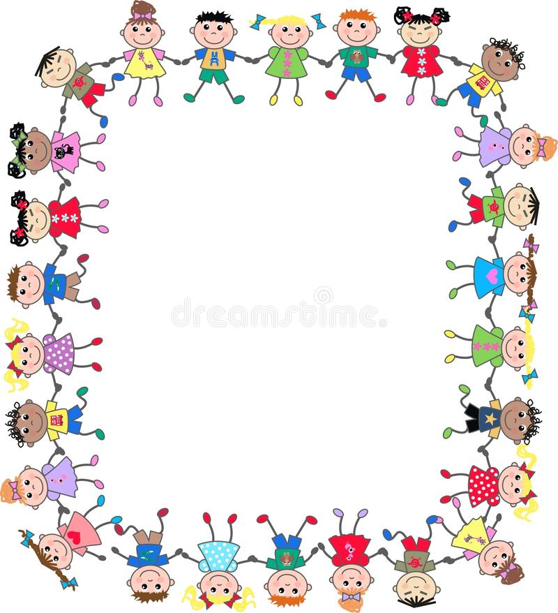 Mixed ethnic kids royalty free stock image