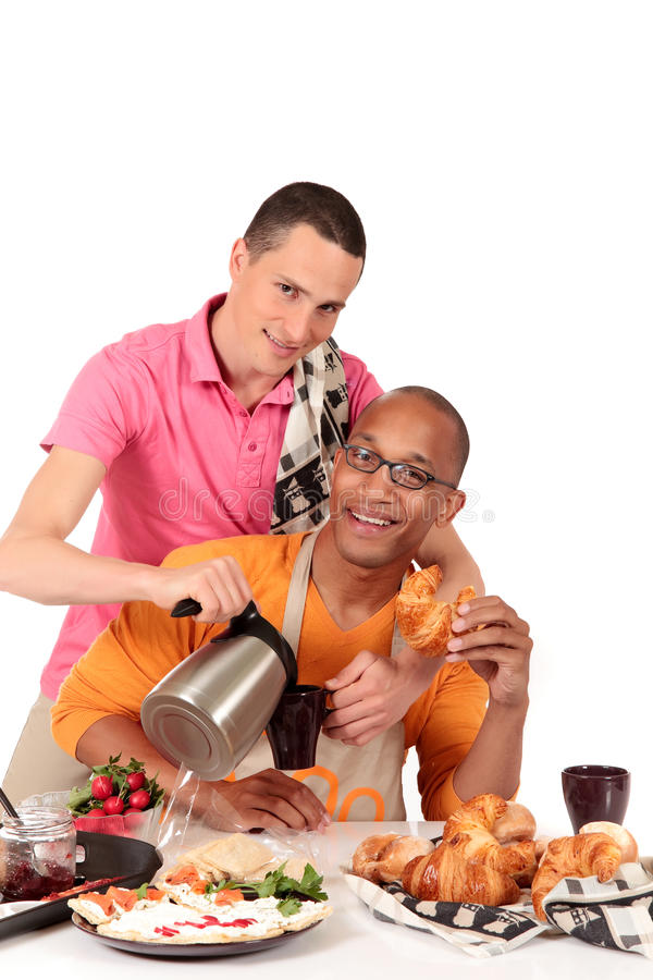 Download Mixed Ethnicity  Gay Couple Kitchen Stock Image - Image: 16228511