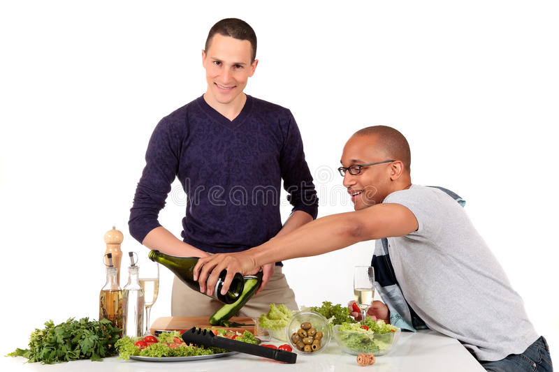 Download Mixed Ethnicity  Gay Couple Kitchen Royalty Free Stock Images - Image: 17899049