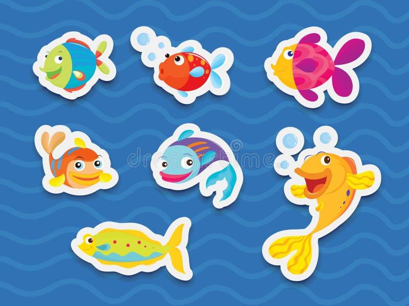 Download Mixed fish stock vector. Illustration of ocean, animal - 24414974