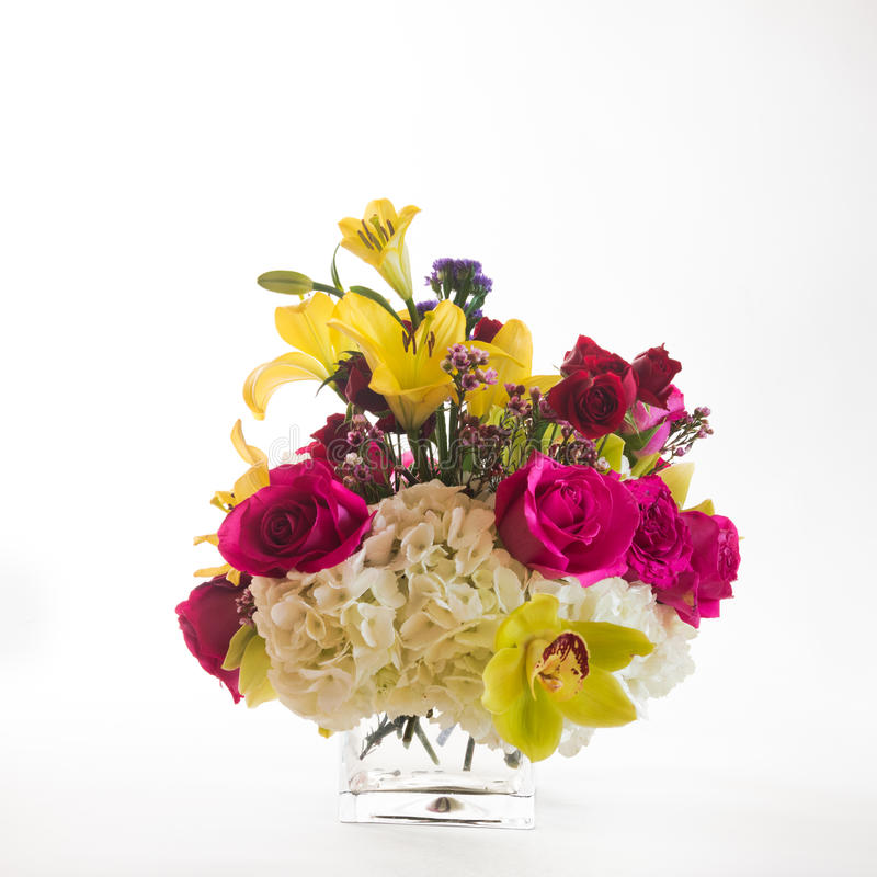 Mixed flowers arrangement royalty free stock photography