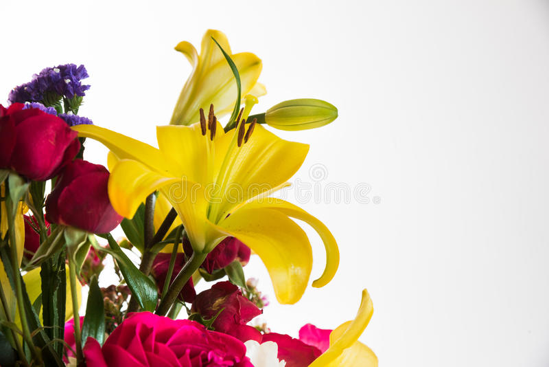 Mixed flowers bouqued stock image