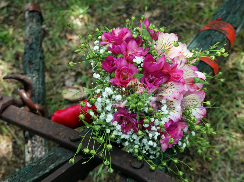 Mixed Flowers Wedding Bouquet Stock Image - Image of detail, event ...