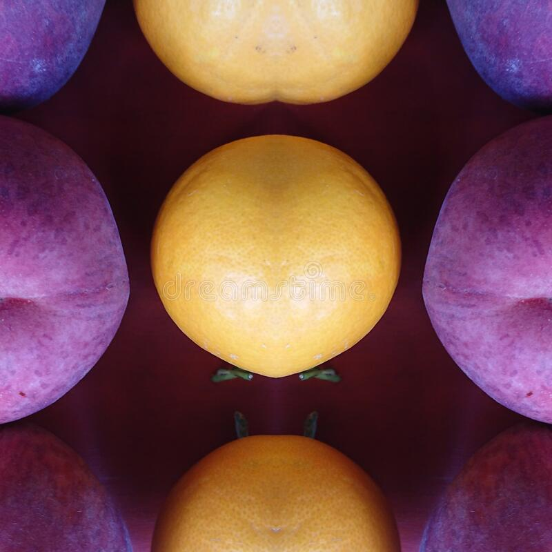 Mixed Fresh Fruits Abstract Art Backgrounds stock images