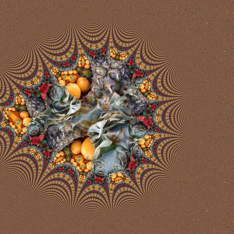 Mixed Fresh Fruits Abstract Art Backgrounds stock image