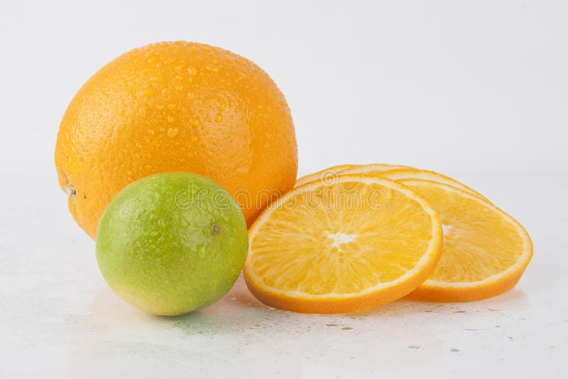 Mixed Fresh Fruits Orange stock photo