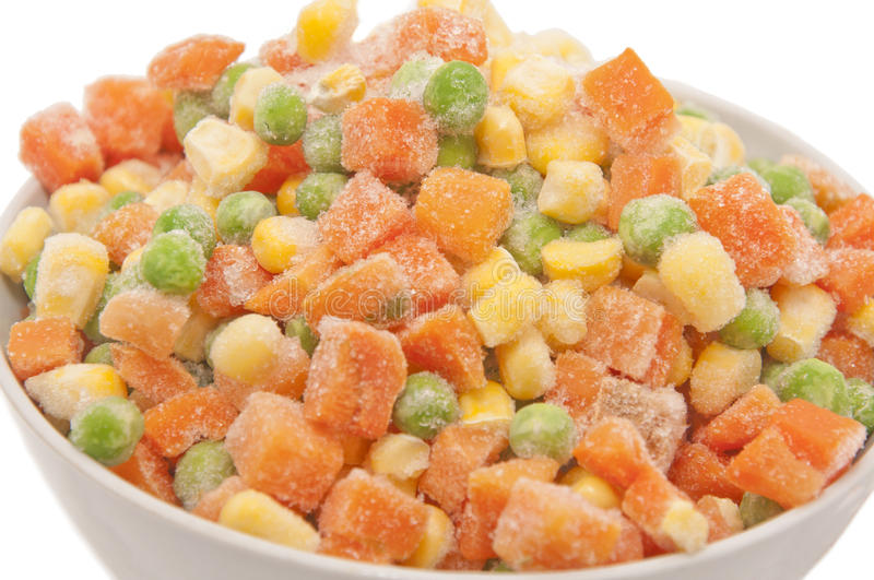 Mixed frozen vegetables stock photography