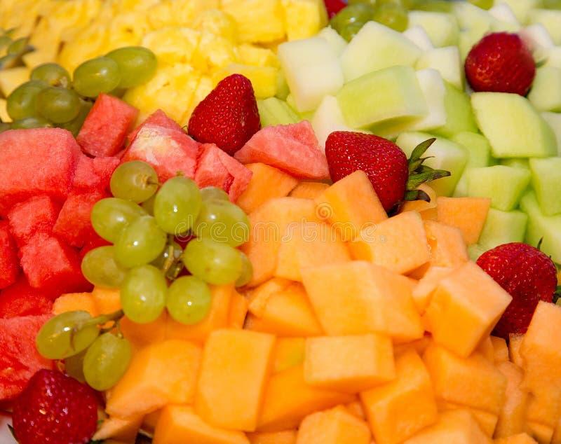 Mixed fruit background stock image