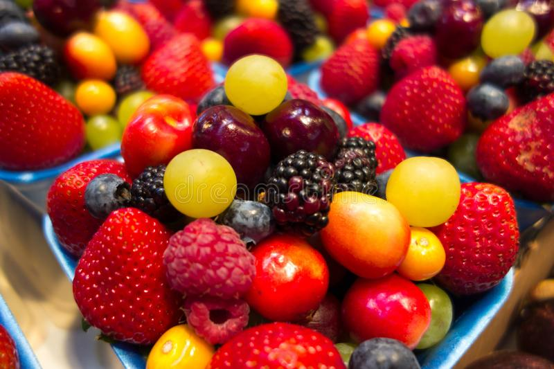 Mixed fruit berries royalty free stock images