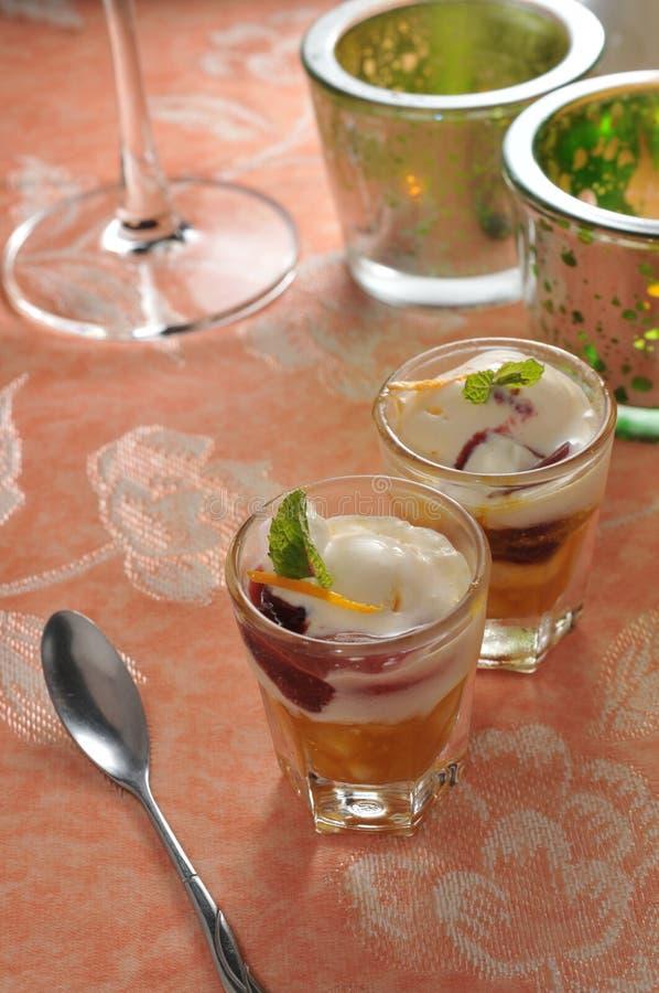 Mixed fruit Ice-Cream stock photography