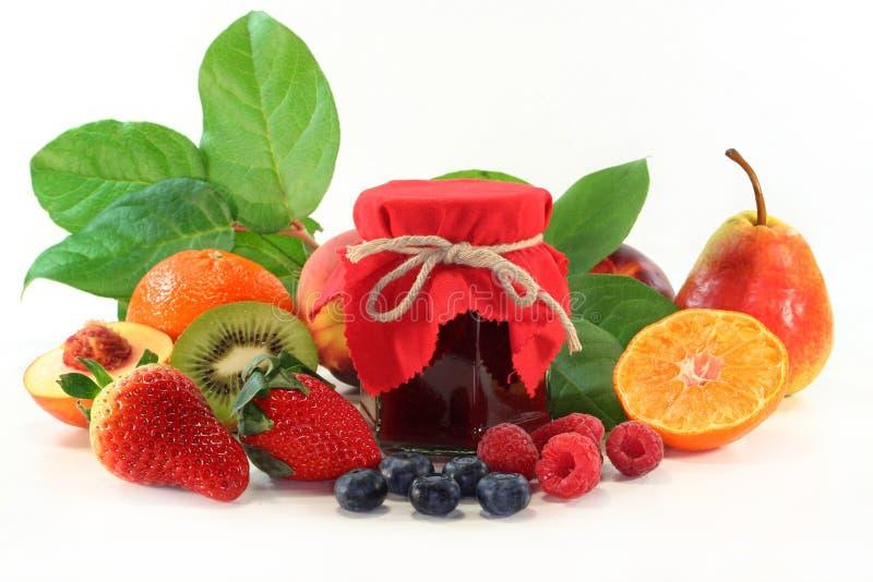 Mixed fruit jam royalty free stock image
