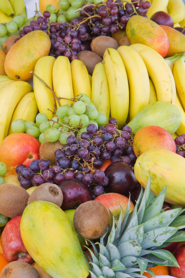 Download Mixed fruit vertical stock photo. Image of pineapple - 14115680