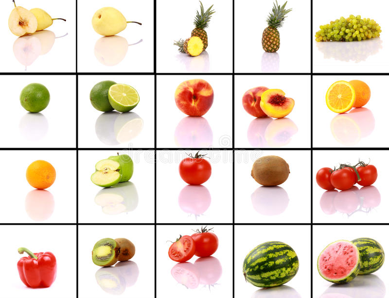 Mixed fruits collection stock image