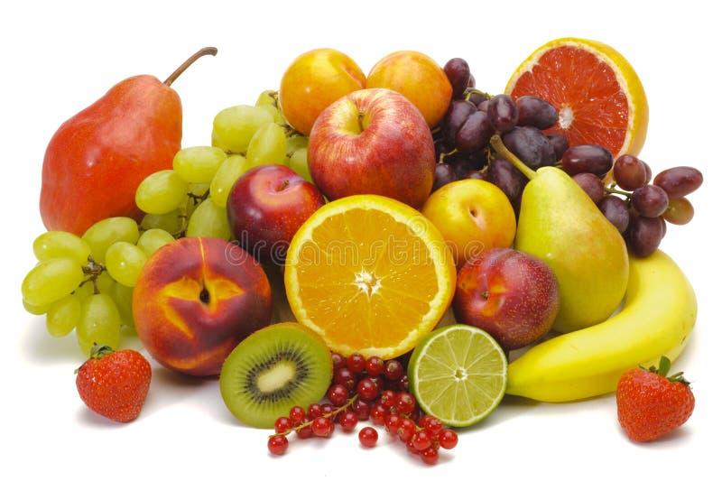 Mixed fruits. Group of fresh mixed fruits