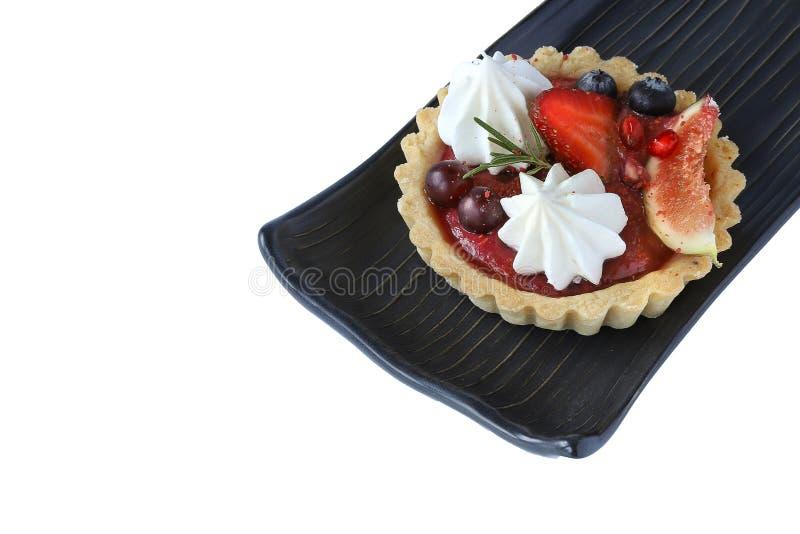 mixed fruits tart royalty free stock photography