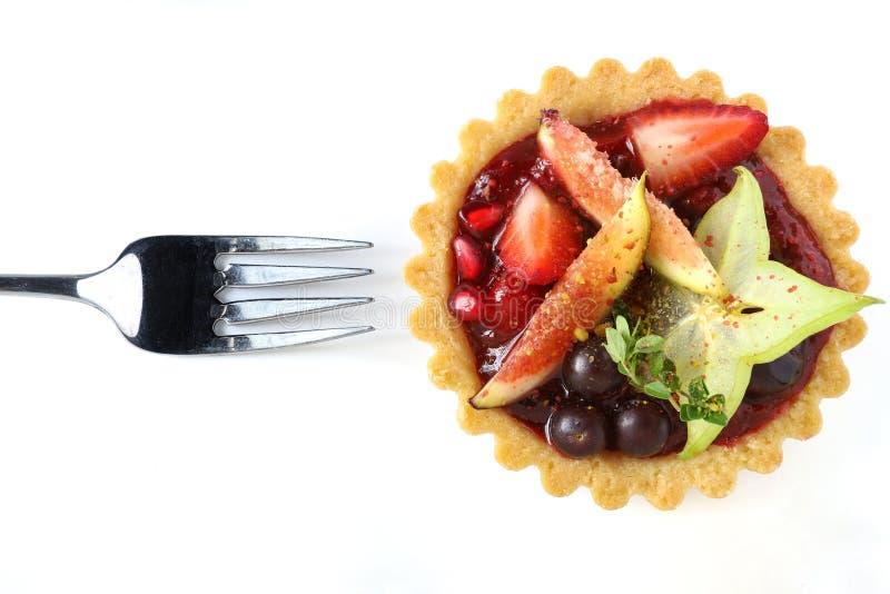 Mixed fruits tart stock photo