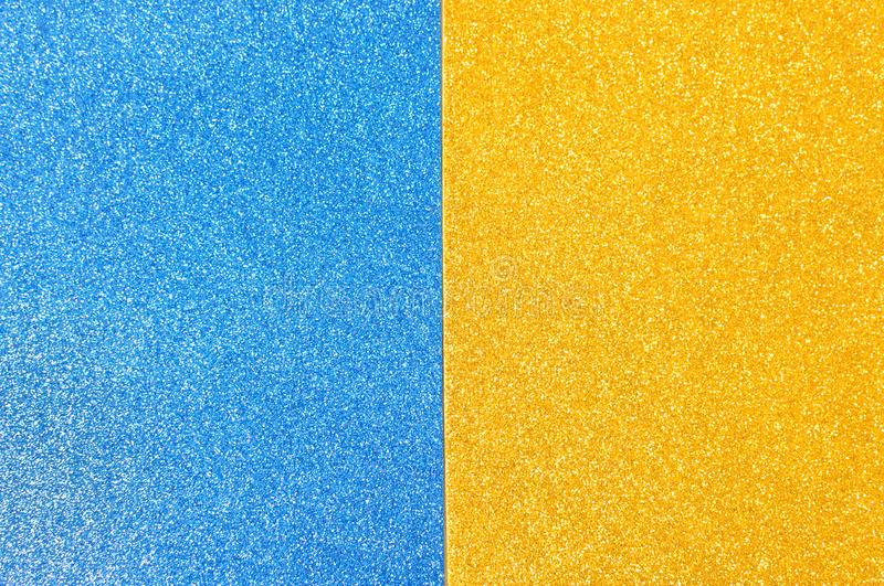 Mixed background glitter texture blue and gold abstract background isolated. Mixed glitter texture blue and gold abstract background royalty free stock photos